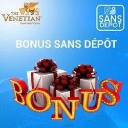 bonus sans depot inscription venetian